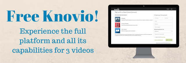 We are now offering all of the platform's capabilities in our Free Knovio account