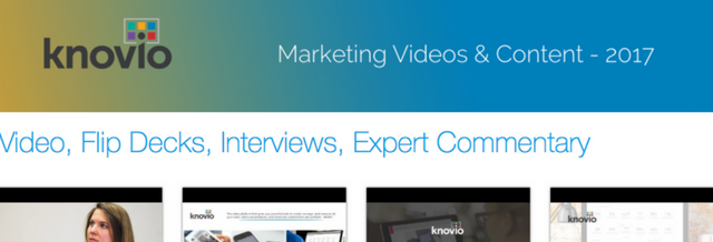Knovio showcases are exactly what you need to start being smarter with your online video and content
