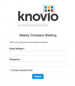 Securely share your videos with Knovio Guest Lists