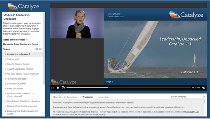 Customizable templates for Live Webcasting
