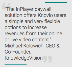 KnowledgeVision Adds Paywall, Monetization Options to Knovio